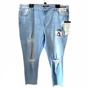d. jeans   Light Wash Distressed Ankle Jeans